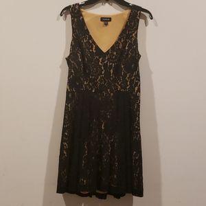 BEBE Black Lace Baby Doll Dress
